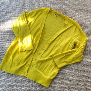 Gap Yellow 3/4 Sleeve Cardigan